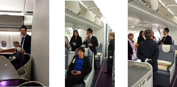 南航奥克兰办事处举办旅游代理人参观飞机活动